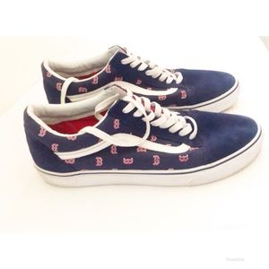 Vans Shoes - VANS Boston Red Sox MLB Old Skool VANS Men's Sz 11